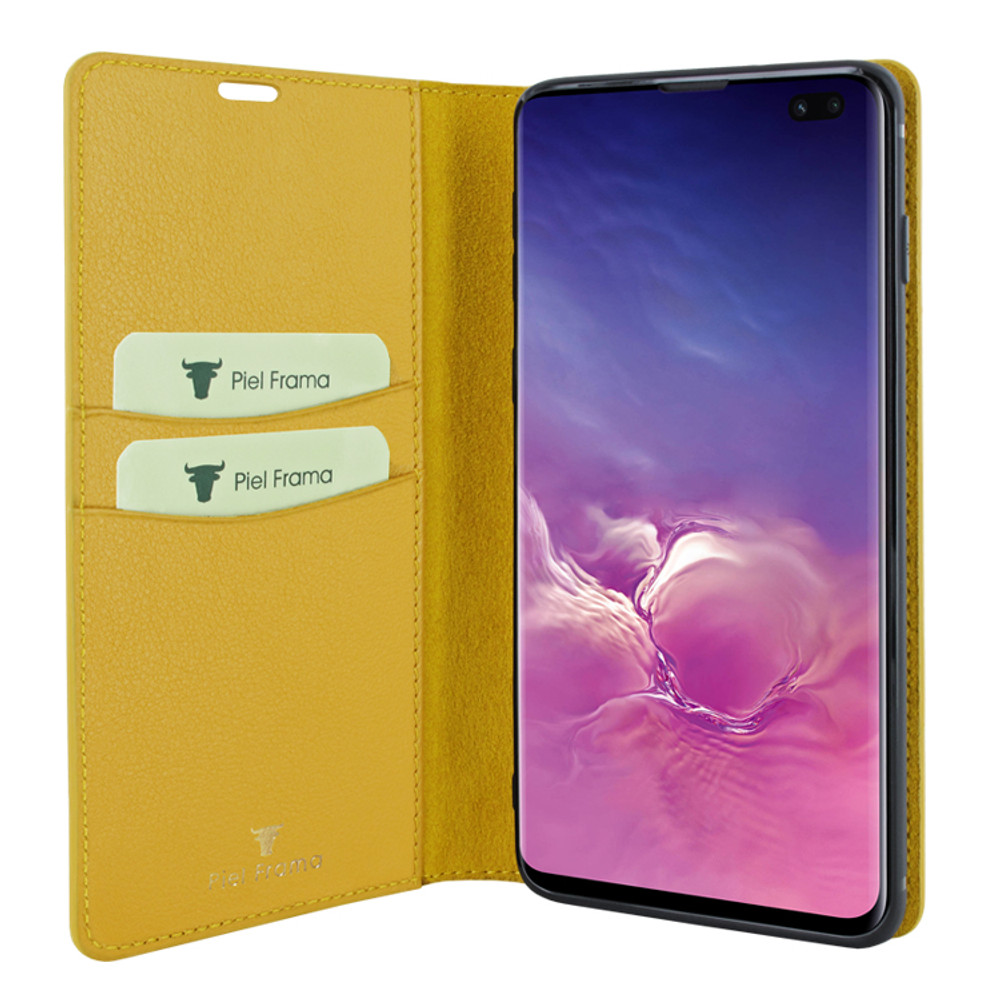 Piel Frama Samsung Galaxy S10 PLUS FramaSlimCards Leather Case - Yellow