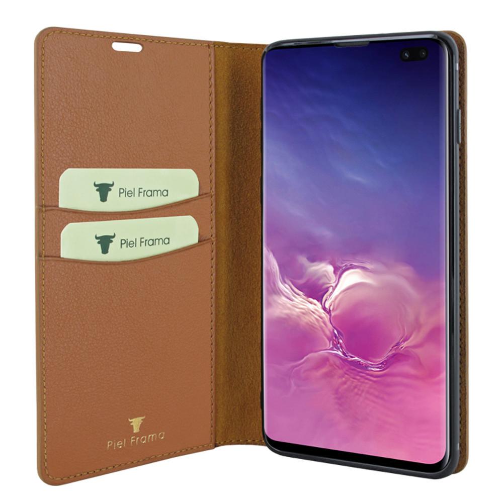 Piel Frama Samsung Galaxy S10 PLUS FramaSlimCards Leather Case - Tan iForte
