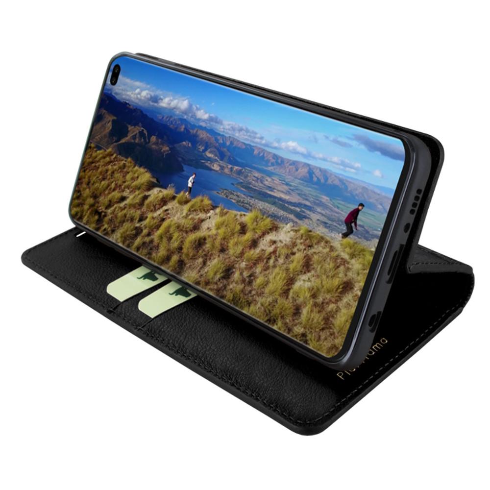 Piel Frama Samsung Galaxy S10 PLUS FramaSlimCards Leather Case - Black Wild Cowskin-Crocodile