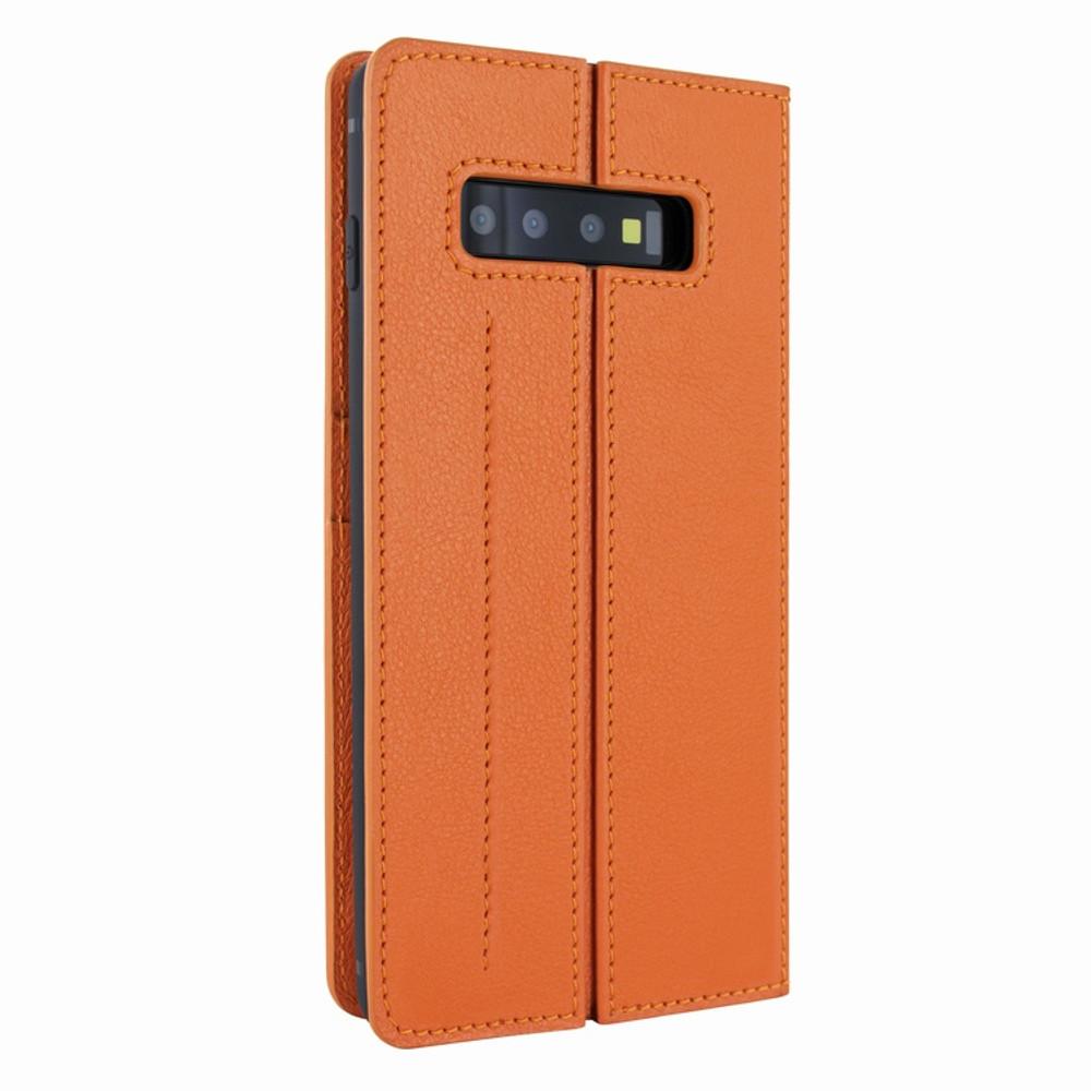 Piel Frama Samsung Galaxy S10 FramaSlimCards Leather Case - Orange
