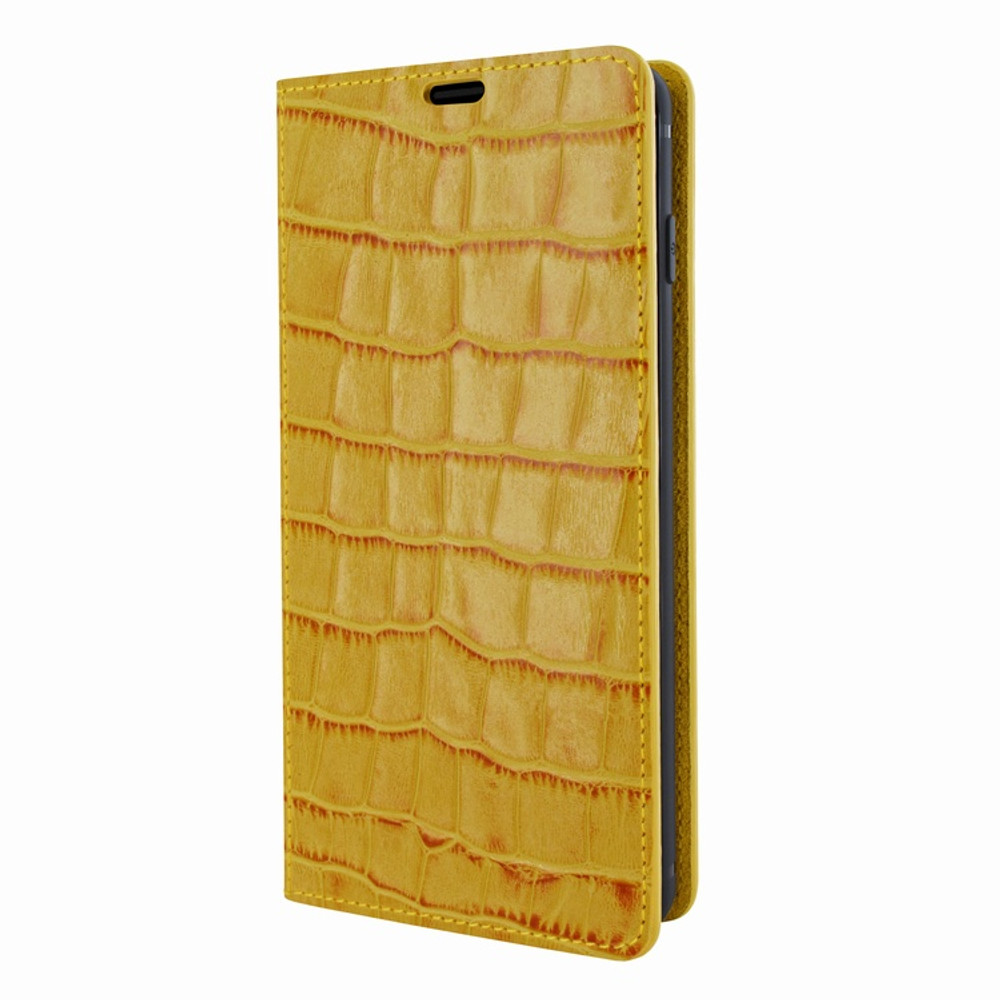 Piel Frama Samsung Galaxy S10 FramaSlimCards Leather Case - Yellow Cowskin-Crocodile