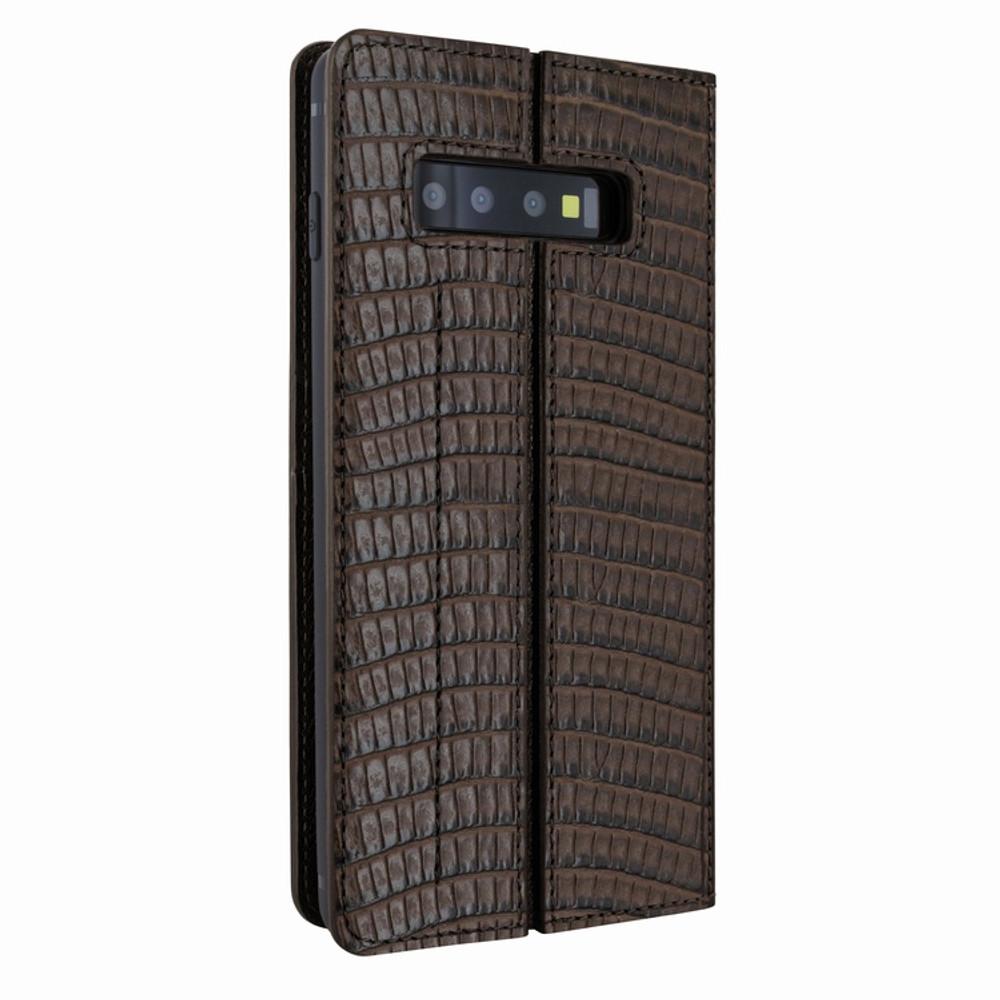 Piel Frama Samsung Galaxy S10 FramaSlimCards Leather Case - Brown Cowskin-Lizard