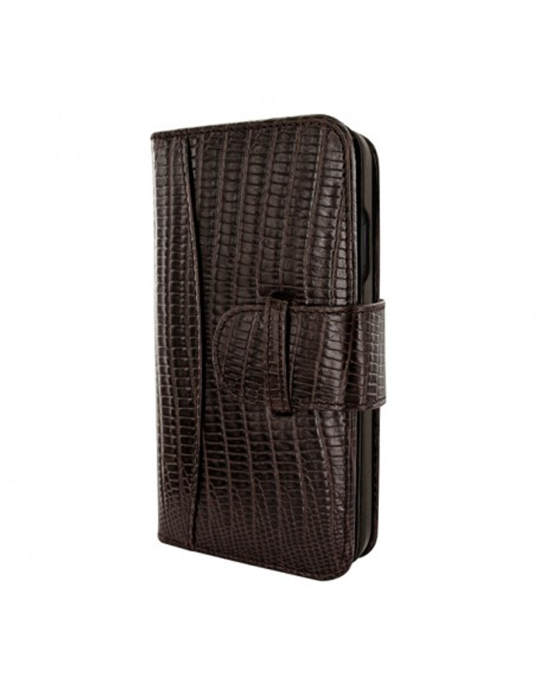 Piel Frama iPhone 13 Pro Max WalletMagnum Leather Case - Brown Lizard