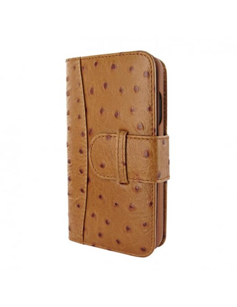 Piel Frama iPhone 13 Pro Max WalletMagnum Leather Case - Tan Ostrich
