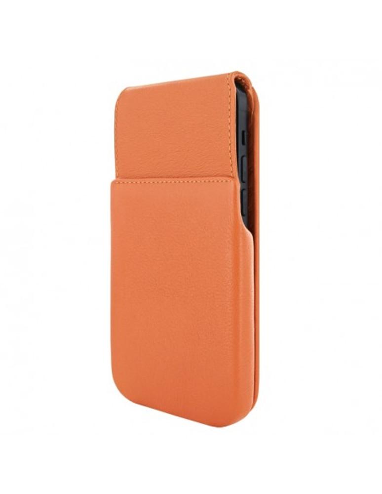 Piel Frama iPhone 13 Pro Max iMagnum Leather Case - Orange
