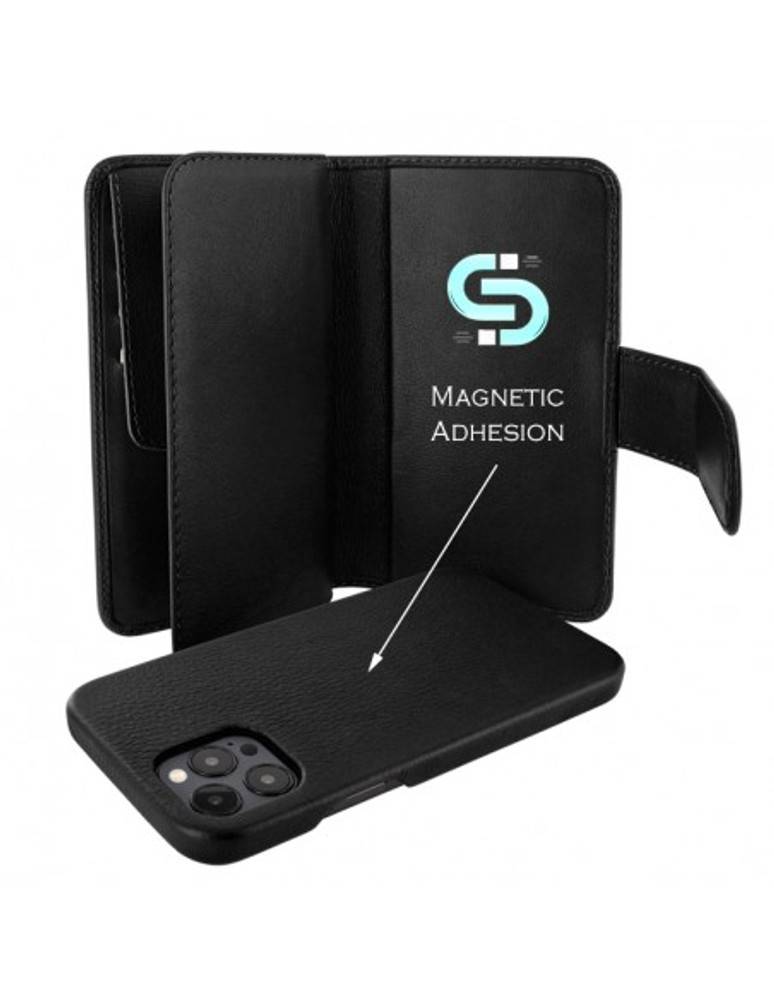 Piel Frama iPhone 13 Pro WalletMagnum Leather Case - Black