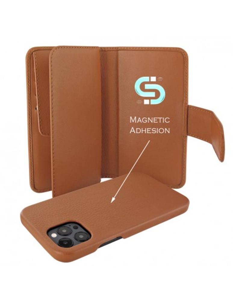 Piel Frama iPhone 13 Pro WalletMagnum Leather Case - Tan