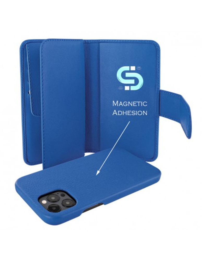 Piel Frama iPhone 13 Pro WalletMagnum Leather Case - Blue