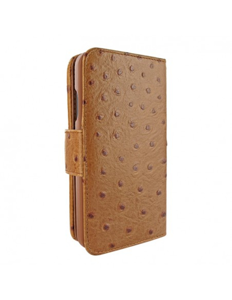 Piel Frama iPhone 13 Pro WalletMagnum Leather Case - Tan Ostrich
