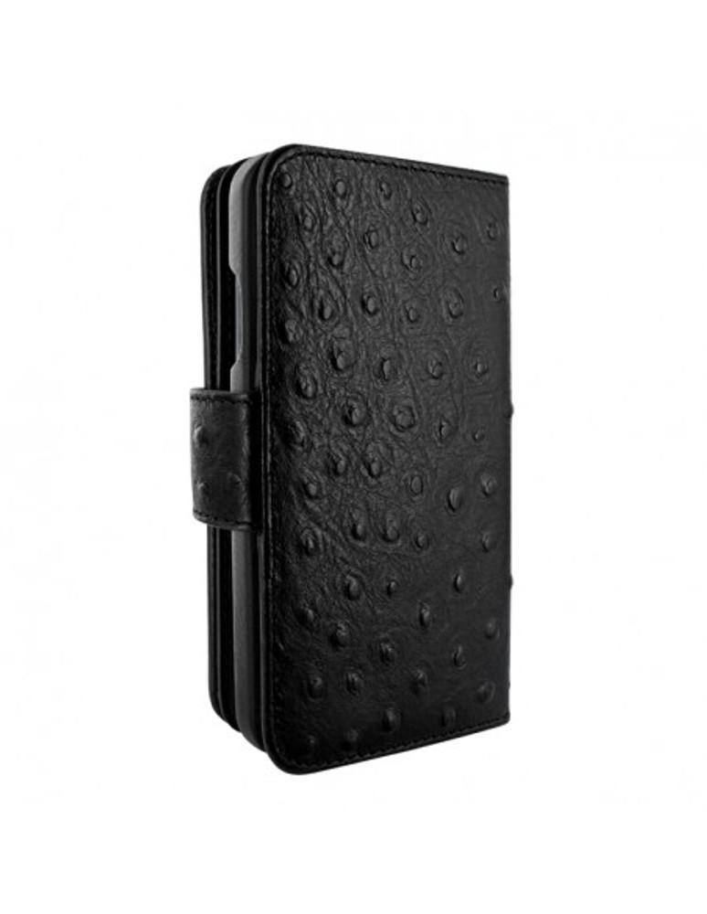Piel Frama iPhone 13 Pro WalletMagnum Leather Case - Black Ostrich