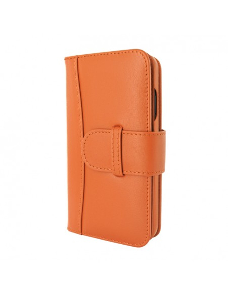Piel Frama iPhone 13 WalletMagnum Leather Case - Orange