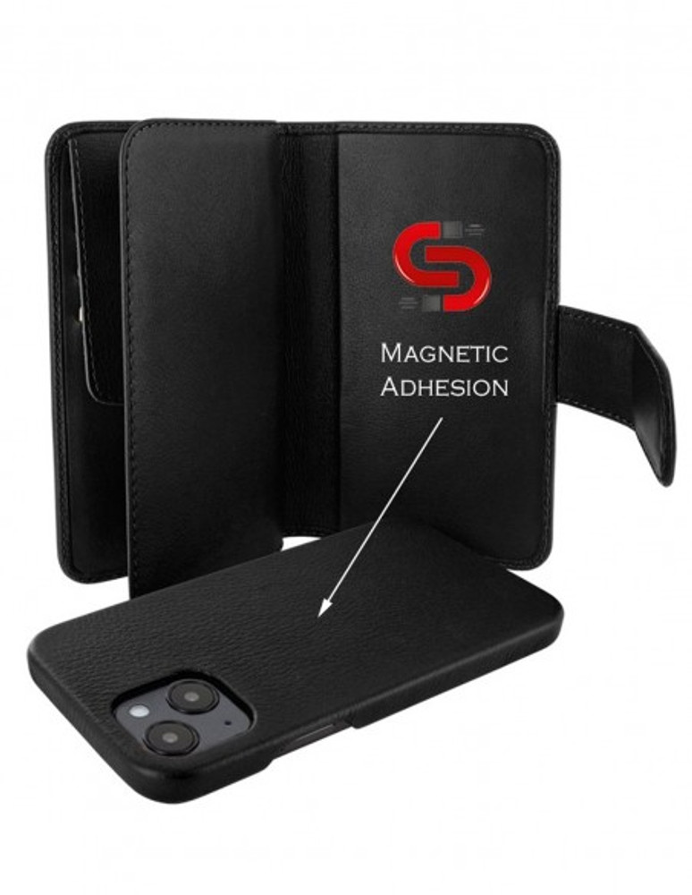 Piel Frama iPhone 13 mini WalletMagnum Leather Case - Black