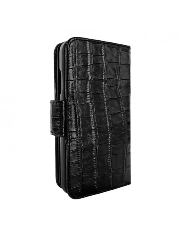 Piel Frama iPhone 13 mini WalletMagnum Leather Case - Black Crocodile