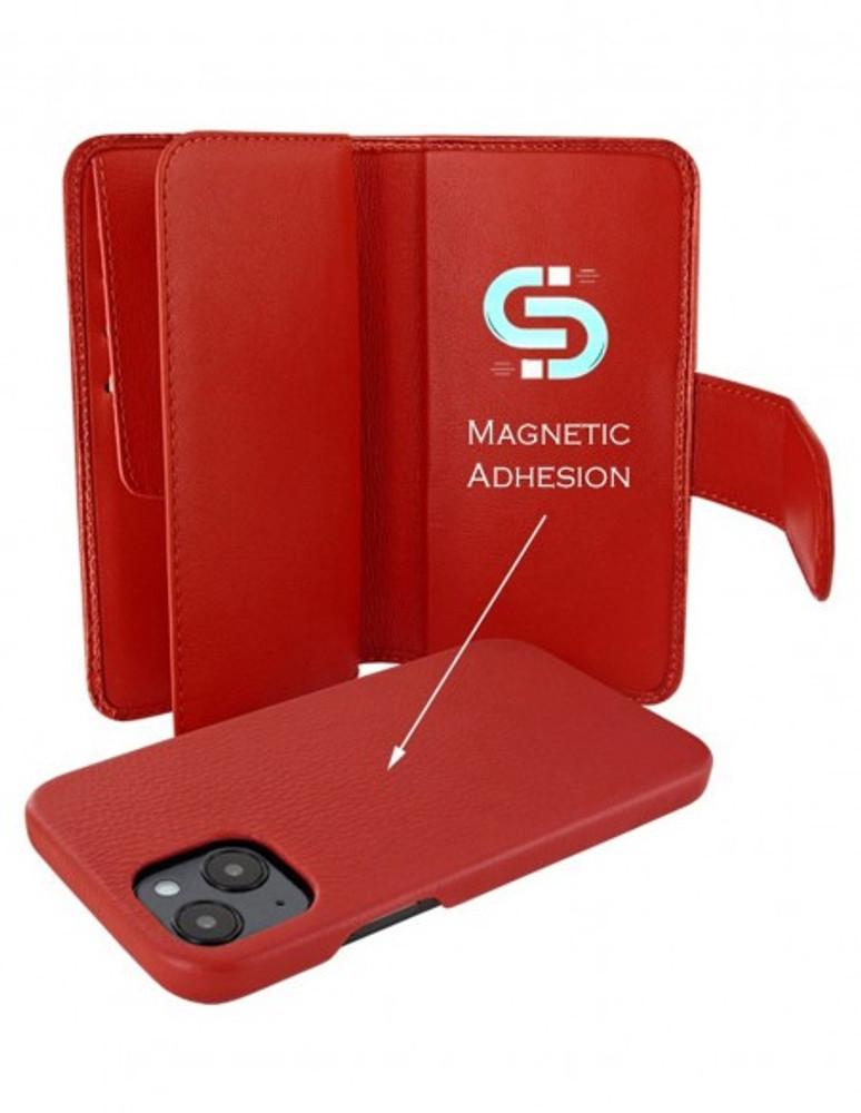 Piel Frama iPhone 13 mini WalletMagnum Leather Case - Red Crocodile