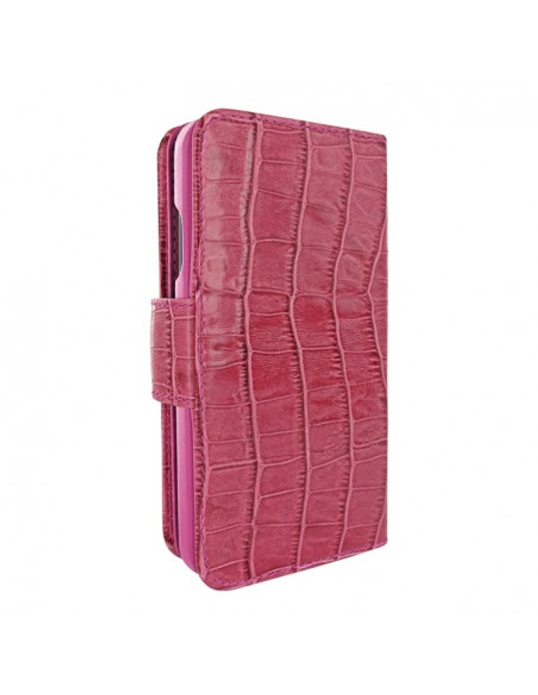 Piel Frama iPhone 12 | 12 Pro WalletMagnum Leather Case - Crocodile Pink