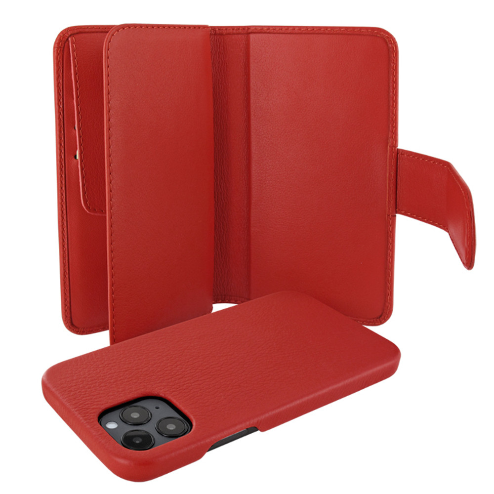 Piel Frama iPhone 12 Pro Max WalletMagnum Leather Case - Red