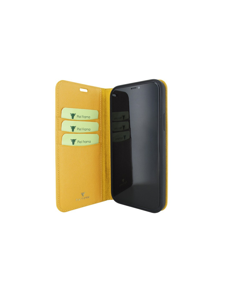 Piel Frama iPhone 12 Pro Max FramaSlimCards Leather Case - Yellow Crocodile