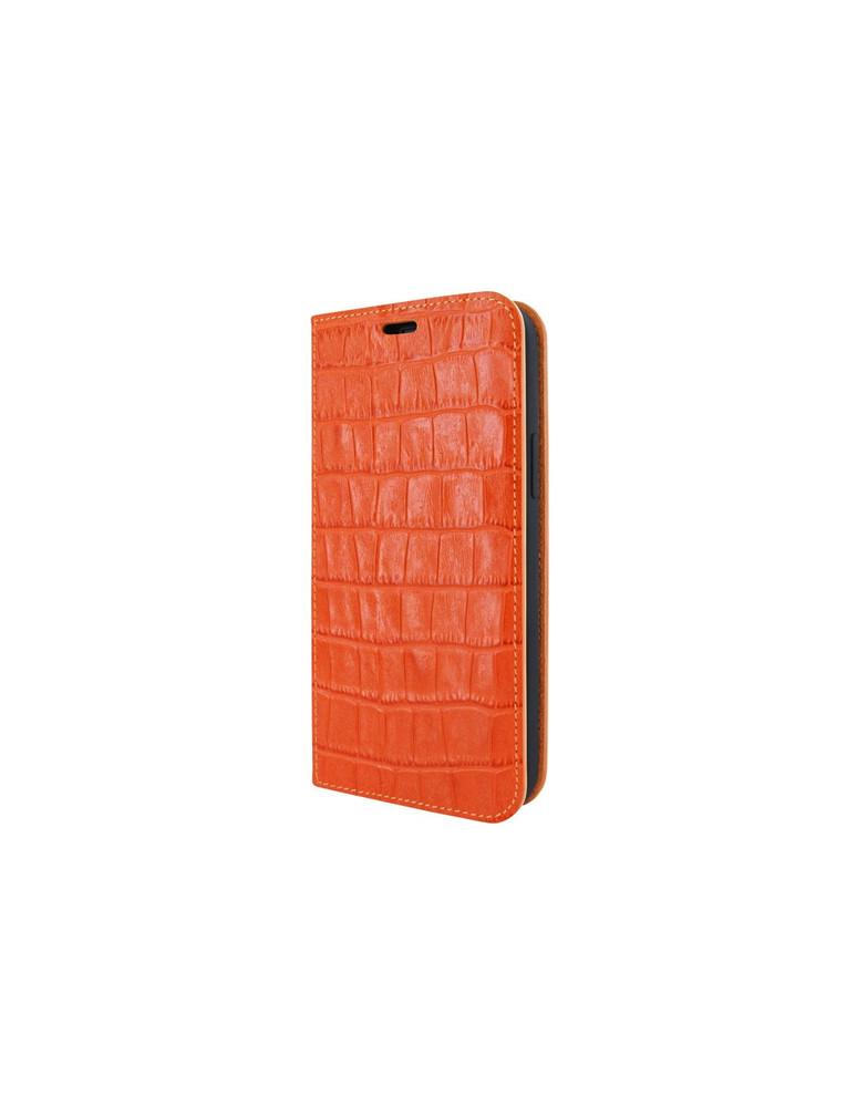 Piel Frama iPhone 12 | 12 Pro FramaSlimCards Leather Case - Orange Crocodile