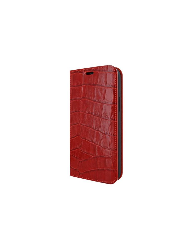 Piel Frama iPhone 12   12 Pro FramaSlimCards Leather Case - Red Crocodile