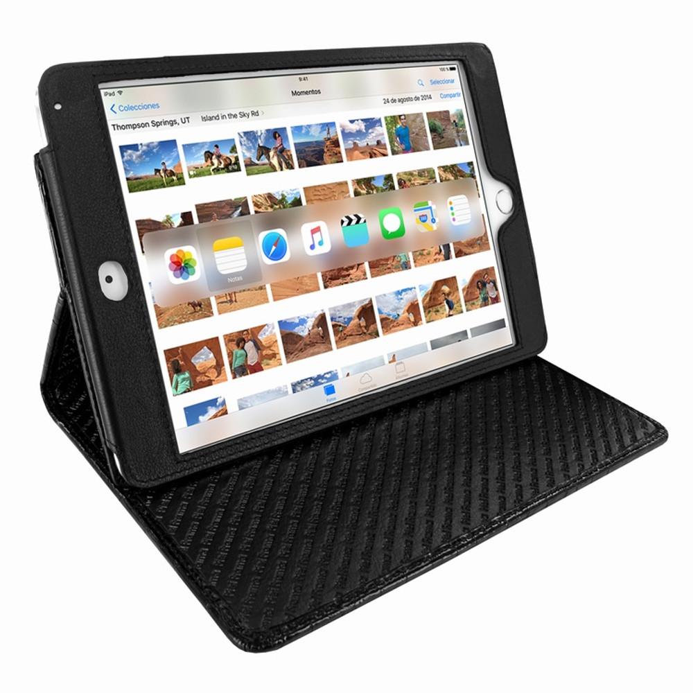 Piel Frama iPad Mini 4 Cinema Leather Case - Black Cowskin-Crocodile