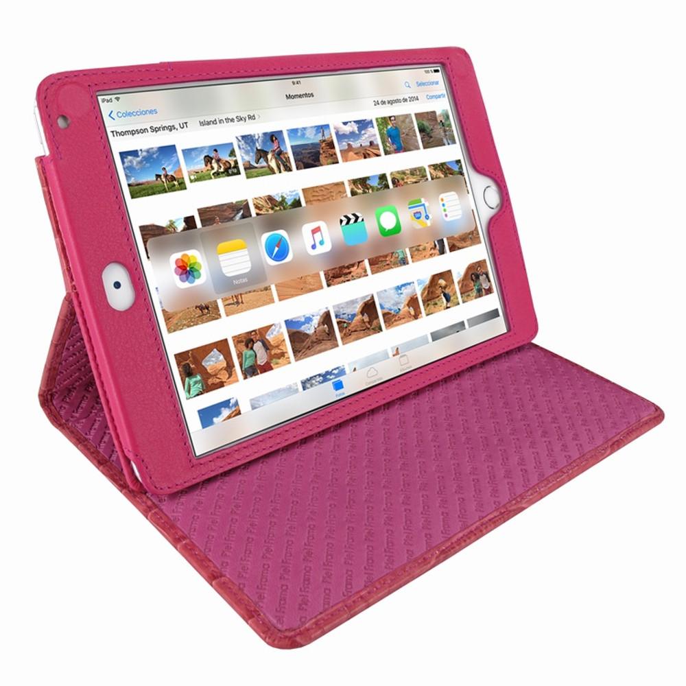 Piel Frama iPad Mini 4 Cinema Leather Case - Fuchsia Cowskin-Crocodile