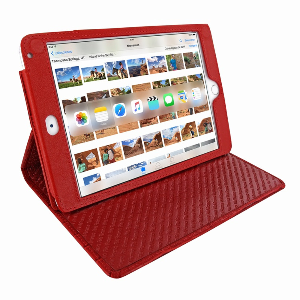 Piel Frama iPad Mini 4 Cinema Leather Case - Red Wild Cowskin-Crocodile