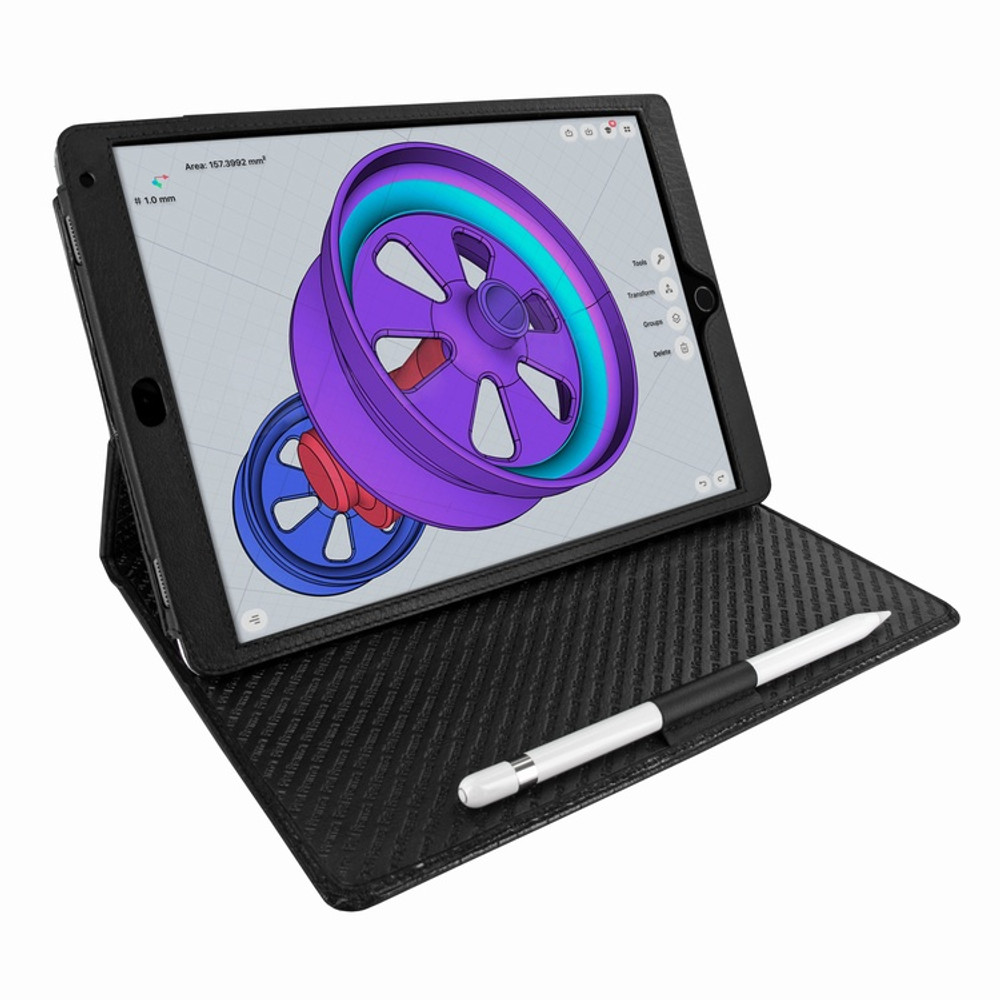 Piel Frama iPad Pro 10.5 Cinema Leather Case - Black Cowskin-Crocodile