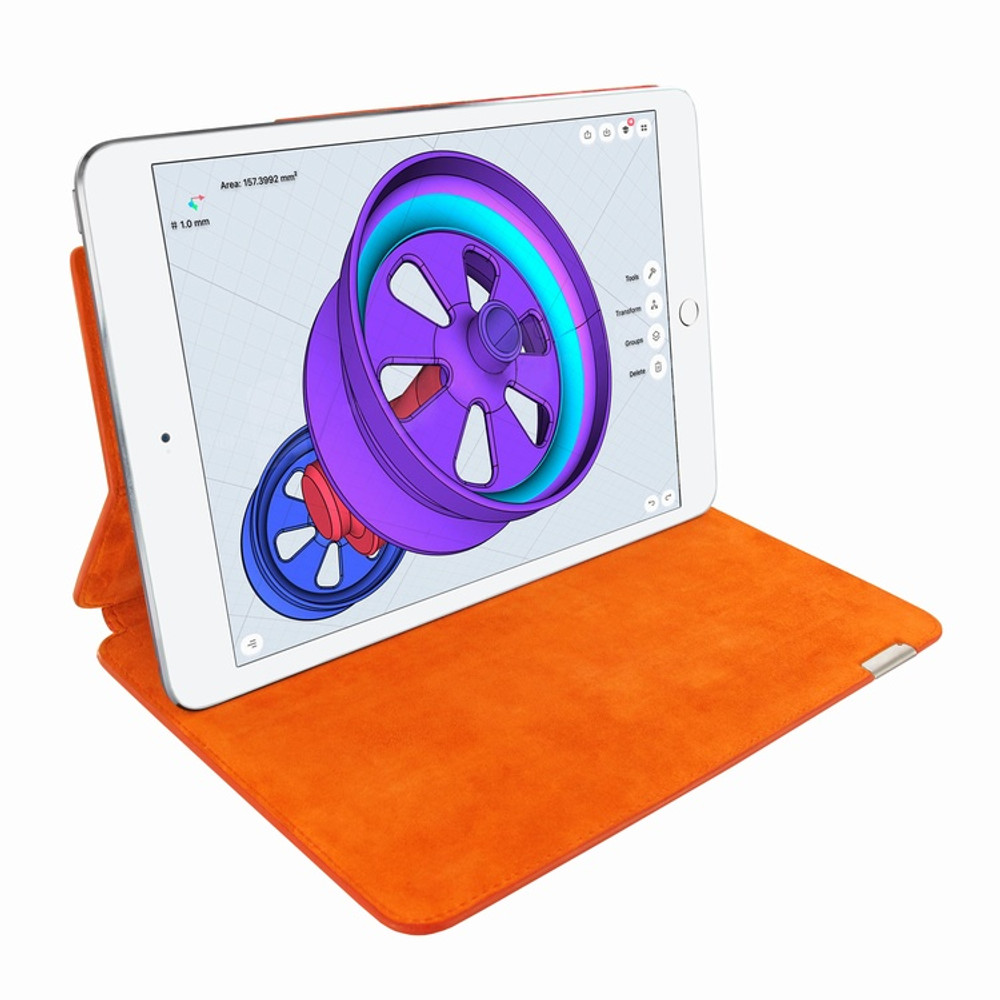 Piel Frama iPad Pro 12.9 2017 FramaSlim Leather Case - Orange Cowskin-Crocodile