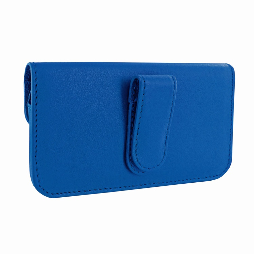 Piel Frama iPhone 6 / 6S / 7 / 8 Horizontal Pouch Leather Case - Blue