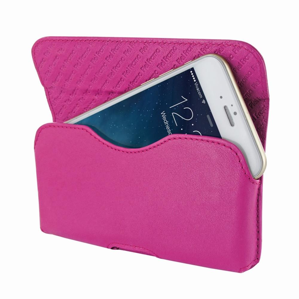 Piel Frama iPhone 6 / 6S / 7 / 8 Horizontal Pouch Leather Case - Fuchsia