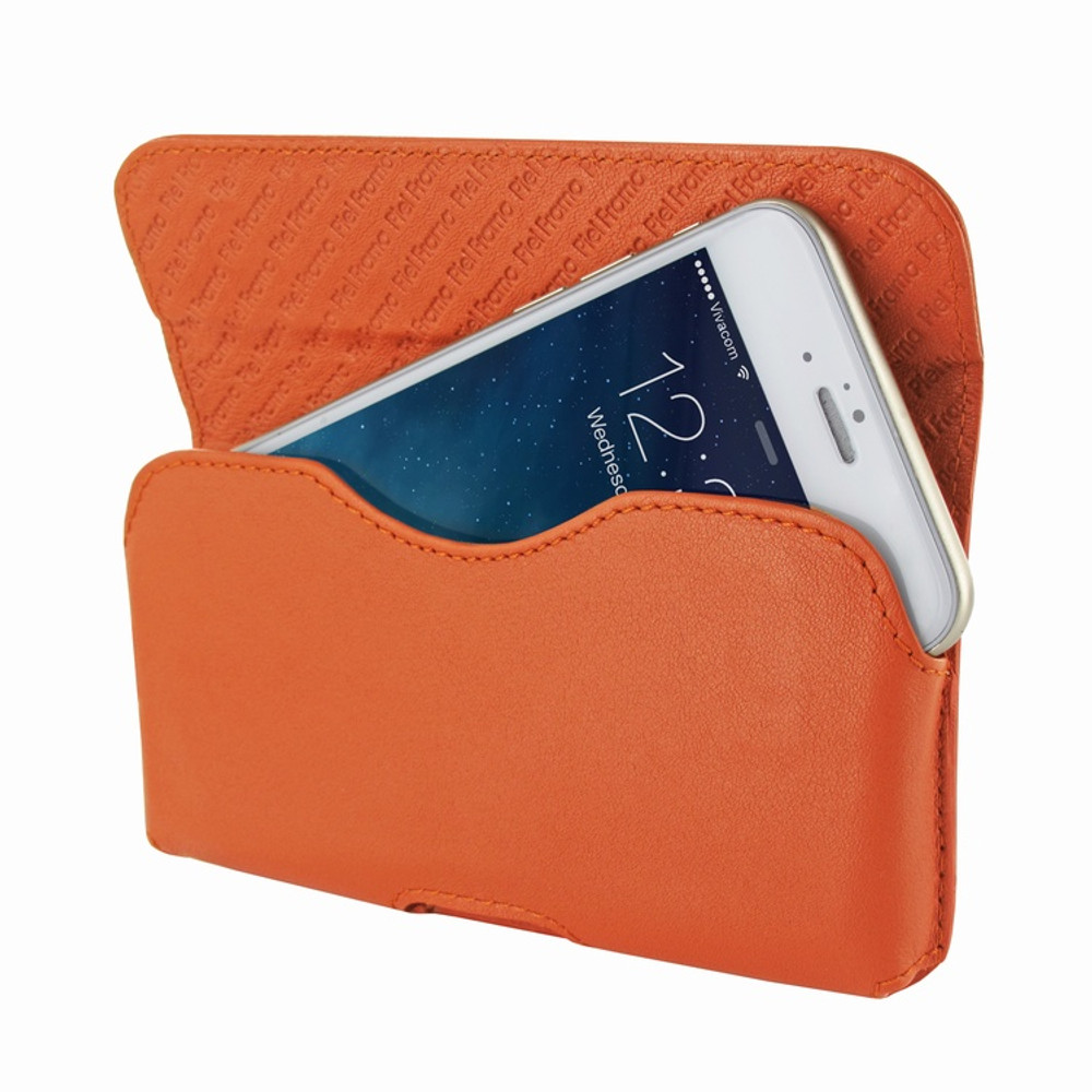 Piel Frama iPhone 6 / 6S / 7 / 8 Horizontal Pouch Leather Case - Orange