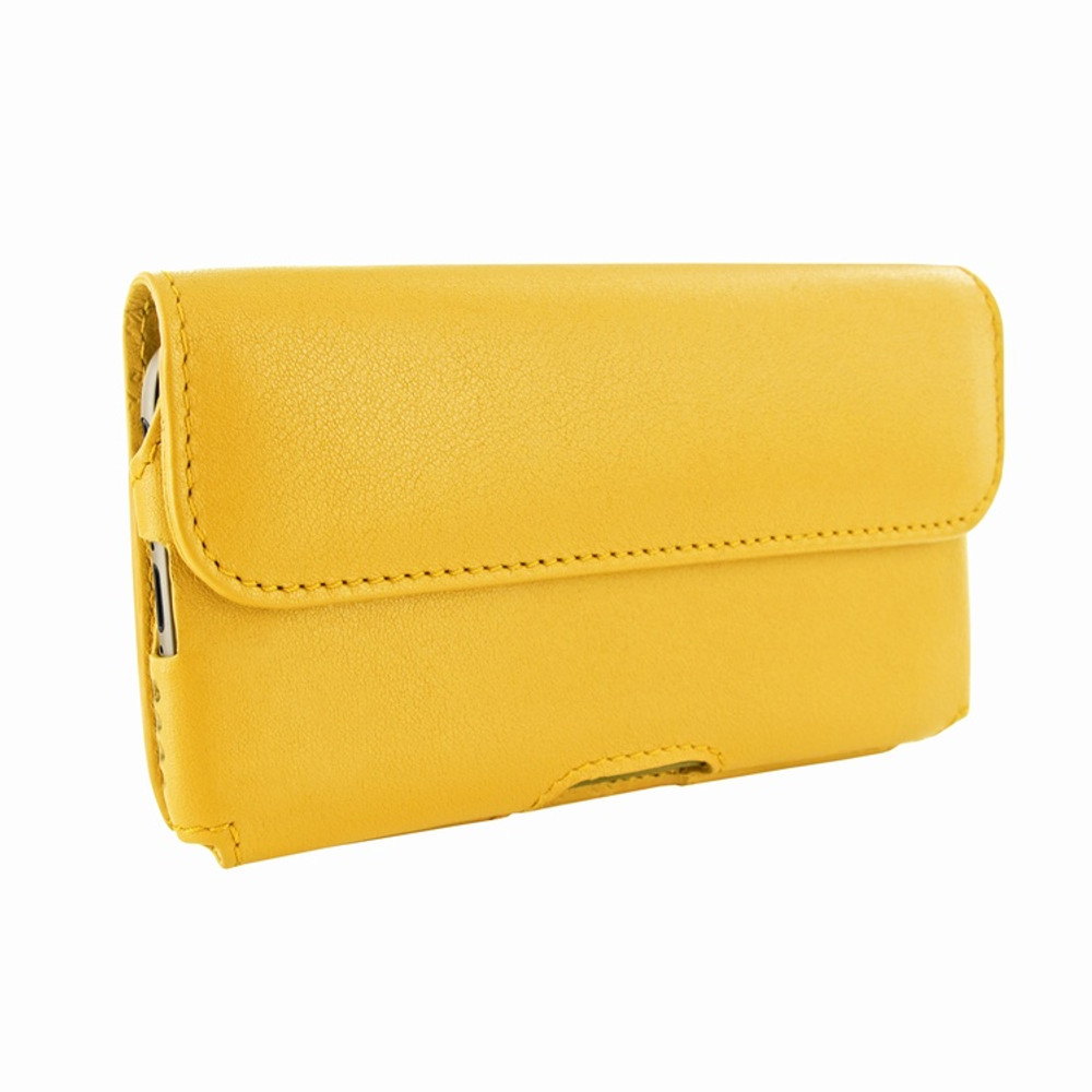 Piel Frama iPhone 6 / 6S / 7 / 8 Horizontal Pouch Leather Case - Yellow