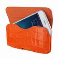 Piel Frama iPhone 6 Plus / 6S Plus / 7 Plus / 8 Plus Horizontal Pouch Leather Case - Orange Cowskin-Crocodile