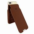 Piel Frama iPhone 6 Plus / 6S Plus / 7 Plus / 8 Plus UltraSliMagnum Leather Case - Brown Cowskin-Crocodile