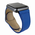 Piel Frama Apple Watch 38 mm Leather Strap - Blue / Black Adapter