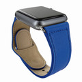 Piel Frama Apple Watch 38 mm Leather Strap - Blue / Silver Adapter
