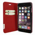 Piel Frama iPhone 7 / 8 FramaSlimCards Leather Case - Red Wild Cowskin-Crocodile