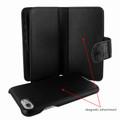 Piel Frama iPhone 7 / 8 WalletMagnum Leather Case - Black Wild Cowskin-Crocodile