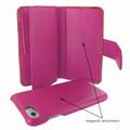 Piel Frama iPhone 7 / 8 WalletMagnum Leather Case - Fuchsia Cowskin-Crocodile
