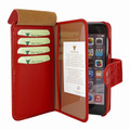 Piel Frama iPhone 7 / 8 WalletMagnum Leather Case - Red Cowskin-Crocodile