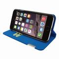 Piel Frama iPhone 7 Plus / 8 Plus FramaSlimCards Leather Case - Blue Cowskin-Crocodile