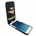 Piel Frama iPhone 7 Plus / 8 Plus iMagnumCards Leather Case - Black Cowskin-Lizard