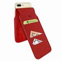 Piel Frama iPhone 7 Plus / 8 Plus iMagnumCards Leather Case - Red Cowskin-Crocodile