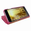 Piel Frama iPhone 7 Plus / 8 Plus WalletMagnum Leather Case - Fuchsia Cowskin-Crocodile