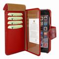 Piel Frama iPhone 7 Plus / 8 Plus WalletMagnum Leather Case - Red Wild Cowskin-Crocodile