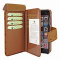 Piel Frama iPhone 7 Plus / 8 Plus WalletMagnum Leather Case - Tan Cowskin-Ostrich