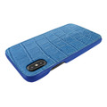 Piel Frama iPhone X / Xs FramaSlimGrip Leather Case - Blue Cowskin-Crocodile