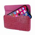 Piel Frama iPhone X / Xs Horizontal Pouch Leather Case - Fuchsia Cowskin-Crocodile