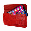 Piel Frama iPhone X / Xs Horizontal Pouch Leather Case - Red Cowskin-Crocodile