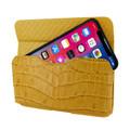 Piel Frama iPhone X / Xs Horizontal Pouch Leather Case - Yellow Cowskin-Crocodile